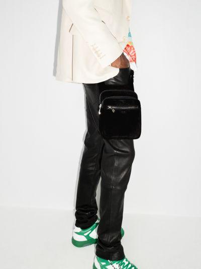 black suede hip pouch