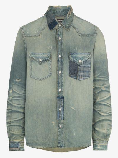 Boro Repair Denim Shirt