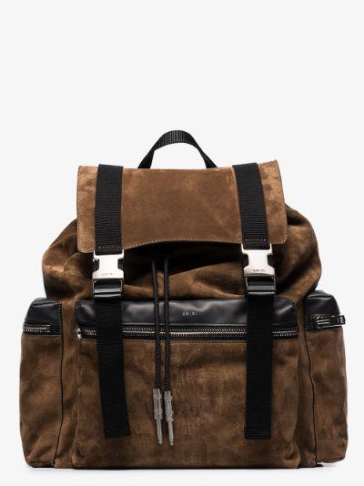brown Tobacco suede backpack