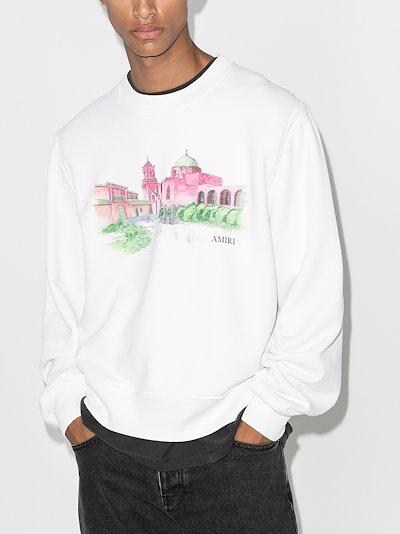 hotel print sweatshirt