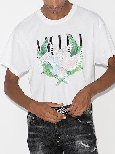 Lovebirds logo print t-shirt