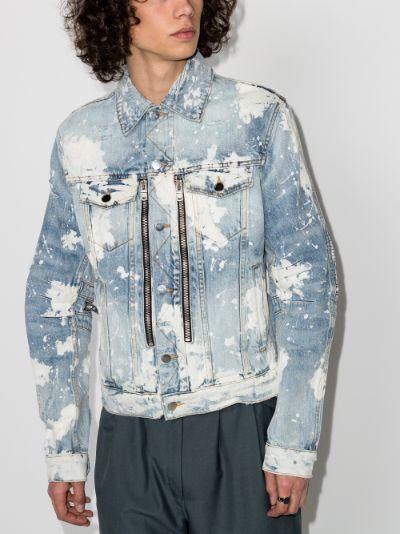 MX2 bleach effect denim jacket