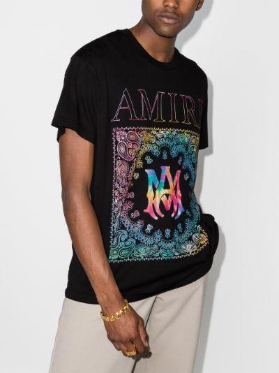 Rainbow bandana print T-shirt