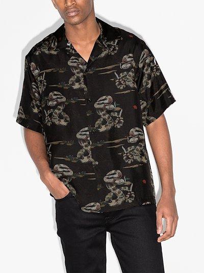 rattlesnake silk shirt