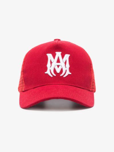 Red M.A. Trucker cap