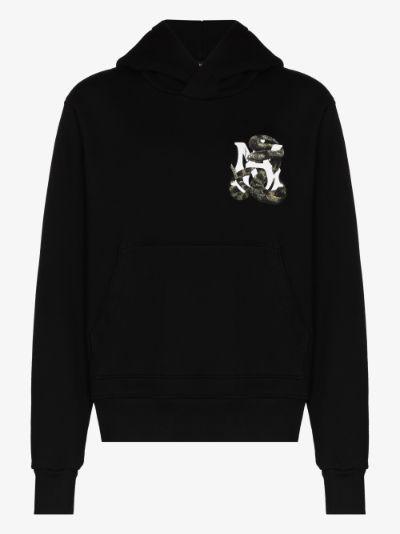 Snake logo print hoodie