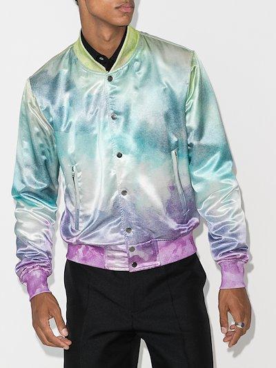 watercolour bomber jacket