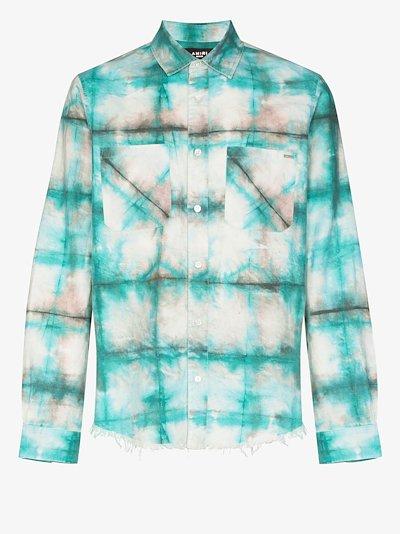 watercolour plaid shirt
