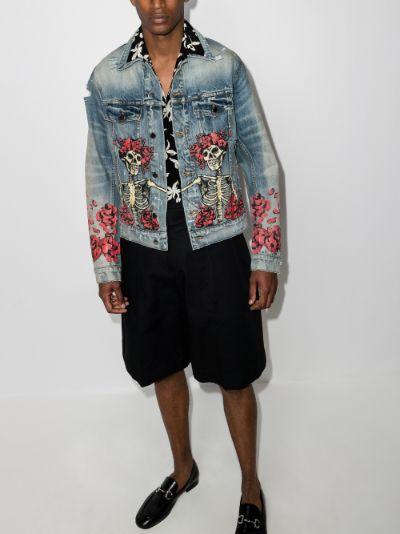 X Grateful Dead printed denim jacket