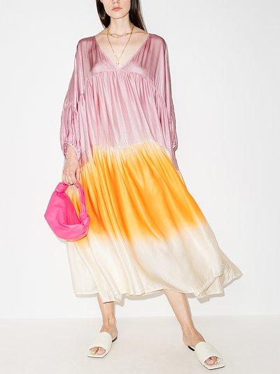 Airi dipped tie-dye silk dress