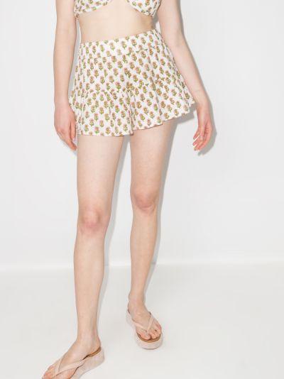 Flutter floral print shorts