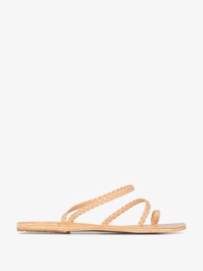 beige Eleftheria braided leather sandals