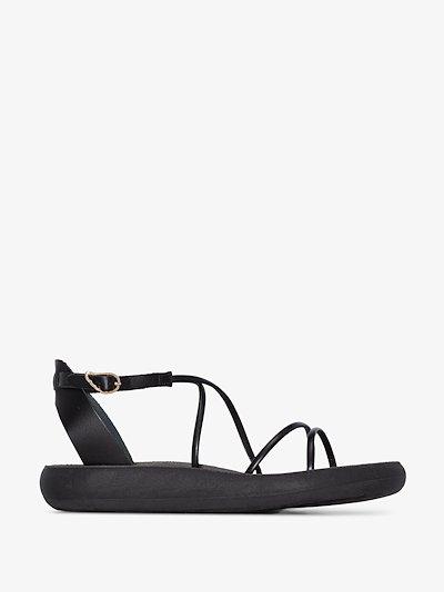 black anastasia comfort leather sandals