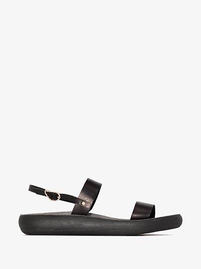 Black Clio Comfort Leather Sandals