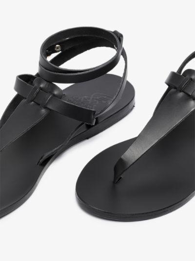 Black Estia ankle strap sandals
