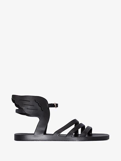 black Ikaria wing sandals