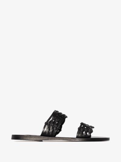 black Melia leather sandals