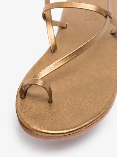 gold Euterpe leather sandals