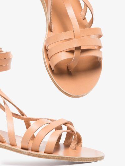 neutral Satira leather sandals