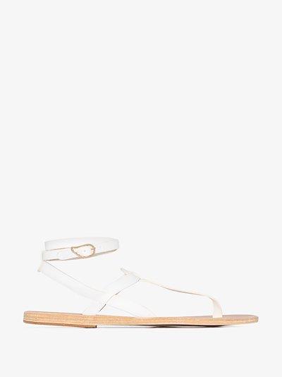 White Estia leather sandals
