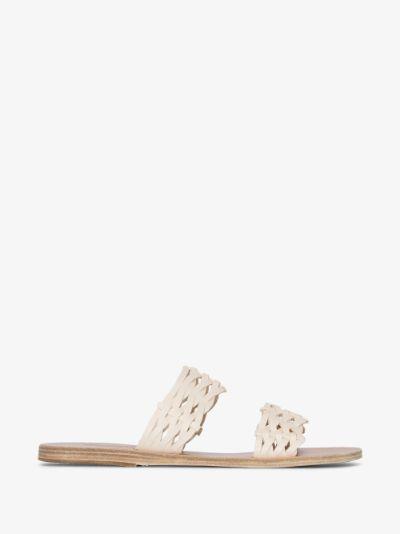 white Melia leather sandals