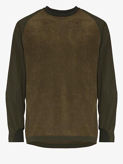green Fleece base T-shirt