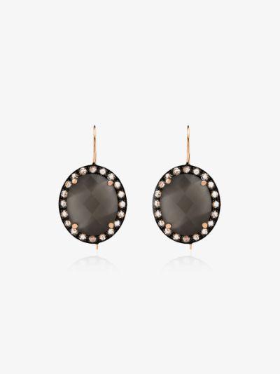 18K rose gold Kat moonstone diamond earrings