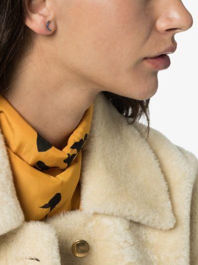 18K yellow gold sapphire rainbow earring