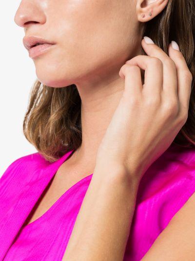 18K Yellow Gold Sapphire Stud Earring
