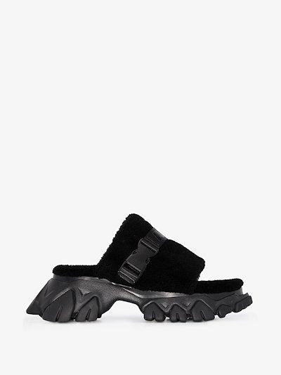 Black Dragon Teeth sandals