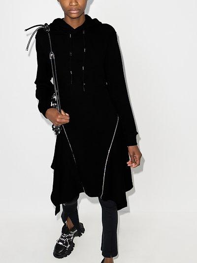 Hooded Asymmetric Hem Dress