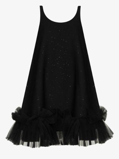 Ruffle Hem glitter dress