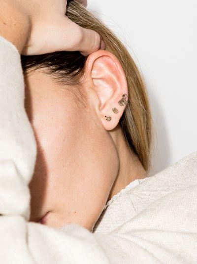 9K yellow gold derrière earring