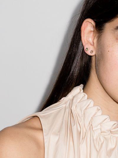 9K yellow gold diamond earring