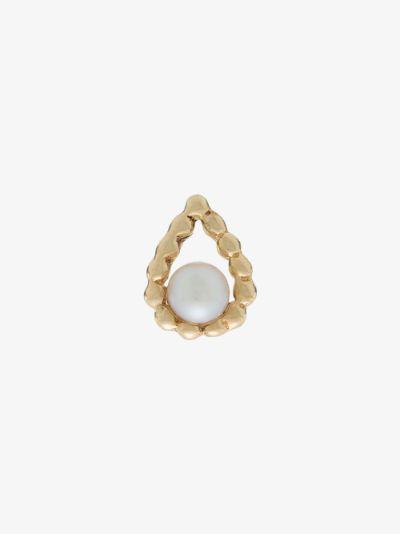 9K yellow gold drop pearl earring