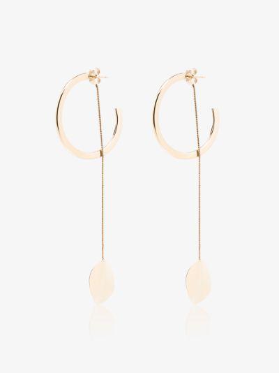 gold-plated Double Trouble hoop drop earrings