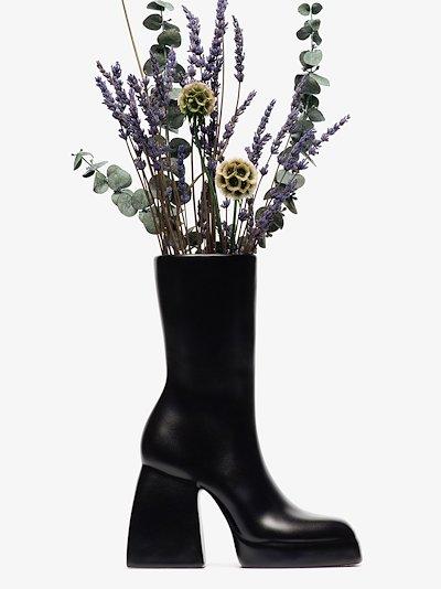 X Nodaleto black Bulla Corta boot ceramic vase