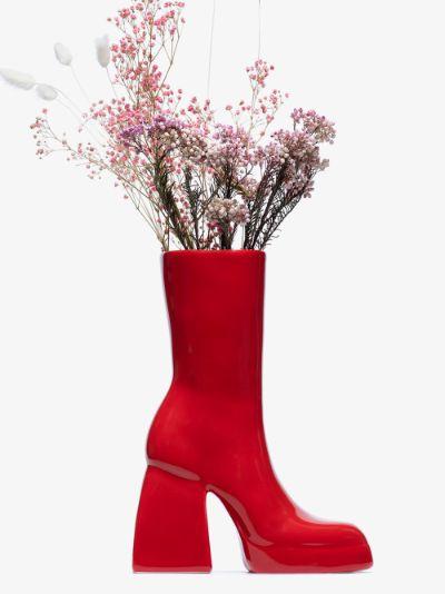 X Nodaleto red Bulla Corta boot ceramic vase