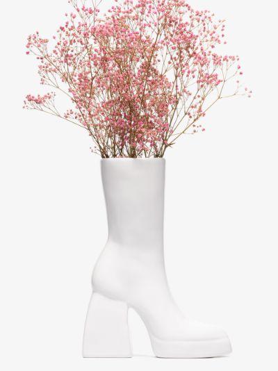 X Nodaleto white Bulla Corta boot ceramic vase