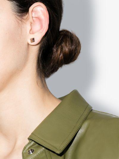 14K rose gold spike stud earrings