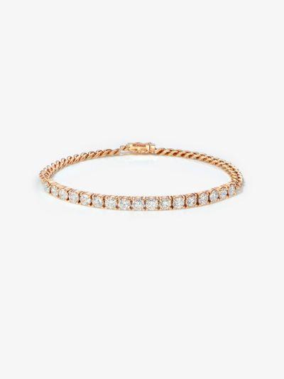 18K rose gold cuban link diamond bracelet