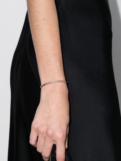 18K rose gold diamond cuff bracelet