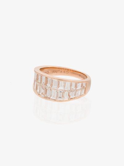 18K rose gold Galaxy diamond ring