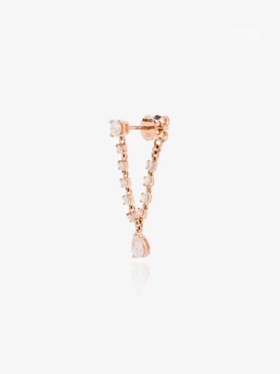 18K rose gold Olivia diamond drop earring