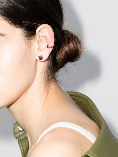 18K rose gold ruby ear cuff