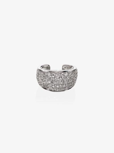 18K white gold galaxy diamond ear cuff