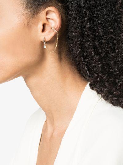 18K yellow gold diamond chain ear cuff