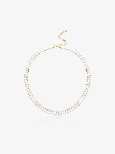 18K yellow gold diamond shaker necklace