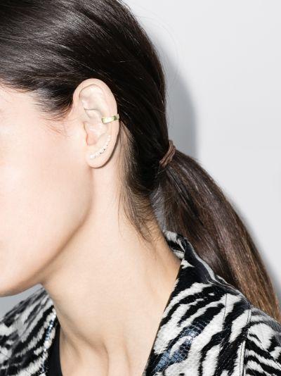 18K yellow gold double row ear cuff