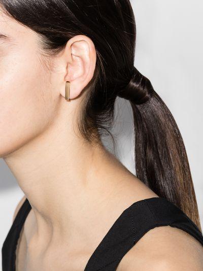 18K yellow gold lobe cuff earring